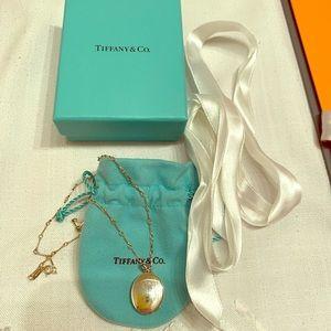 BNIB Tiffany and Co. locket and chain